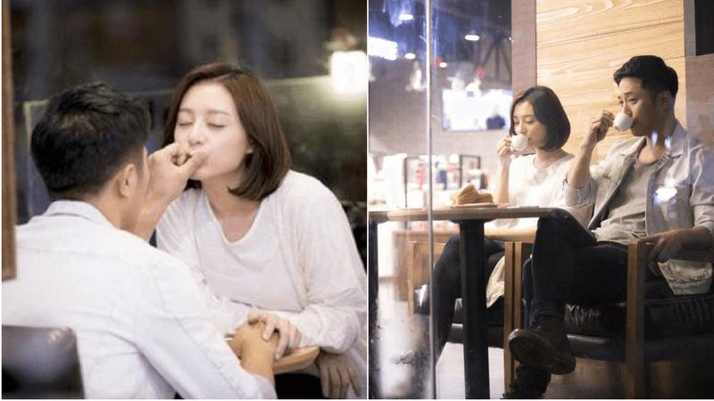 """Thoát khỏi bộ đồ quân nhân, cặp đôi Trung úy Yoon Myung Joo và Phó Sĩ quan Seo Dae Young của bộ phim bom tấn """"Hậu Duệ Mặt Trời"""" lại có những phút giây lãng mạn trong quán cafe."""