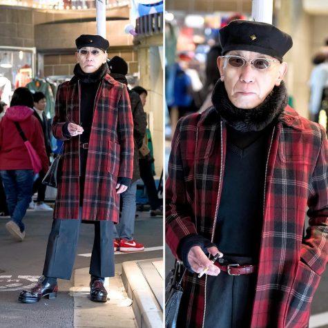 Một trong những phong cách thời trang phối cùng mũ beret thu hút sự chú ý tại Street Harajuku Tokyo Style. (Ảnh: Pinterest)