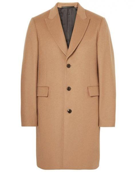Mẫu áo Wool and Cashmere Blend Overcoat của nhà mốt Paul Smith có giá 950 USD