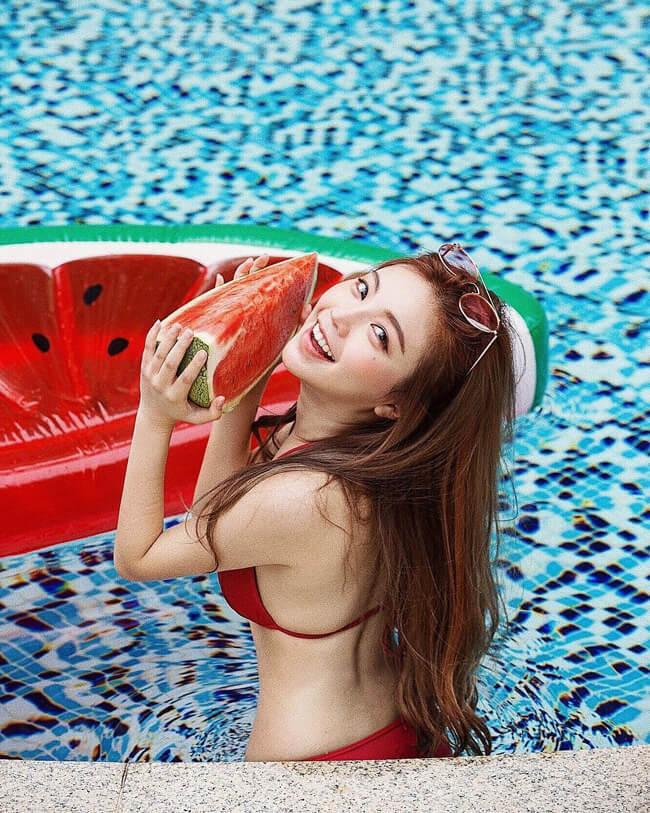 Lynn Huang sở hữu vẻ đẹp tươi trẻ, tràn đầy sức sống.