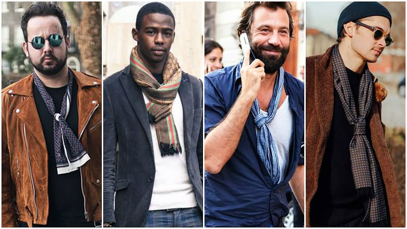 Bạn có thể phối kiểu thắt khăn này với nhiều trang phục khác nhau. Ảnh: Pinterest.