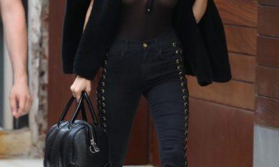 So với việc khoác thêm áo vì sợ lạnh, có lẽ Bella chỉ cần đơn giản hơn, mặc thêm bra vào là mọi chuyện sẽ được giải quyết.