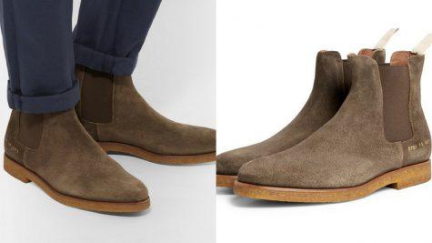 Giày Chelsea Boots da lộn của Common Projects. Ảnh: Mr. Porter.