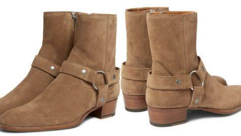 Giày Harness Boots của Saint Laurent. Ảnh: Mr. Porter.