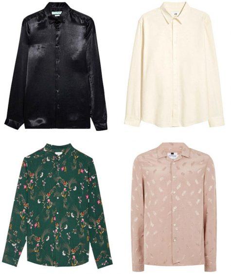 Áo sơ mi lụa - Hình: Zara, H&M, Reiss, Topman