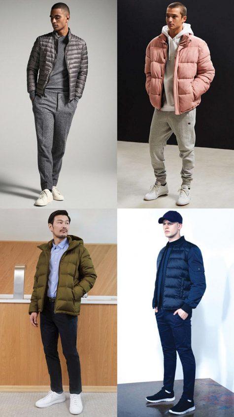 Áo khoác chần bông -Hình: Massimo Dutti, Urban Outfitter, Uniqlo, New Look