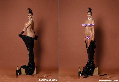 Kim Kardashian trên tạp chí Paper magazine. Ảnh: Papaer magazine