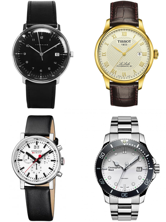 đồng hồ như Hamilton, Christopher Ward hay Tissot