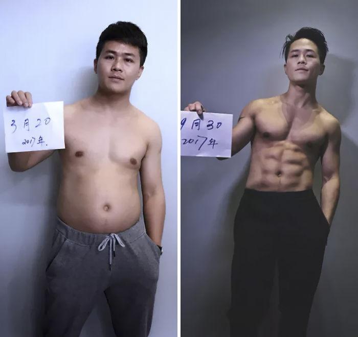Jesse có thân hình chuẩn đẹp sau khi kiên trì tập luyện.