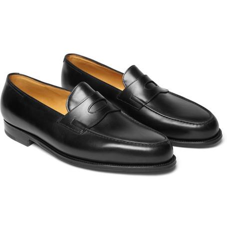 Mẫu giày John Lobb Lopez leather penny loafers có giá 895 Bảng Anh (~29 triệu VND)