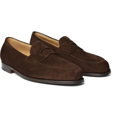 Mẫu giày John Lobb Lopez suede penny loafers có mức giá 895 Bảng Anh (~29 triệu VND)