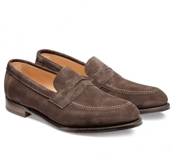 Mẫu giày Cheaney Hadley Penny Loafer in brown suede có mức giá 292 Bảng Anh (~6,6 triệu VND)