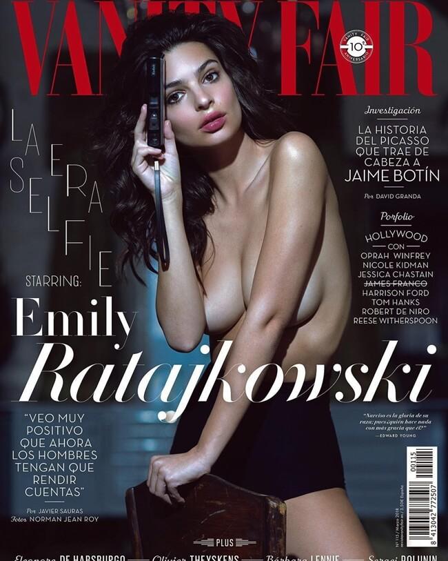 Mới đây, cô lại gây sốt làng giải trí khi xuất hiện trên trang bìa tạp chí Vanity Fair Tây Ban Nha với hình ảnh ngực trần nóng bỏng.