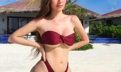 Người mẫu Philippines - Sunshine Guimary xuất hiện gợi cảm trong trang phục áo tắm khoe chân ngực