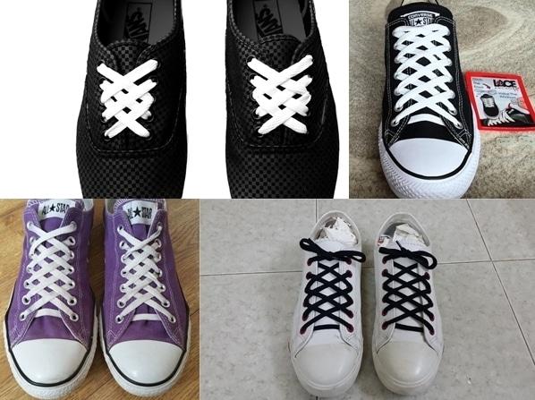Hình Kiểu buộc giày kim cương