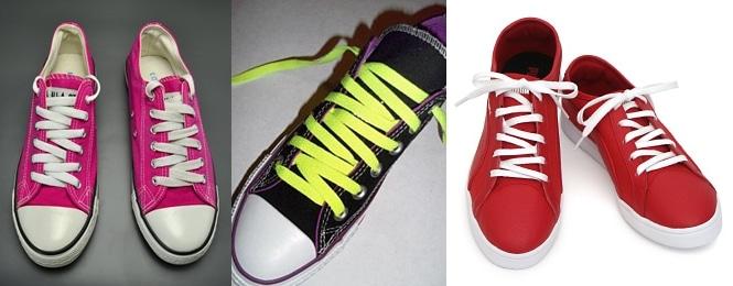"""Sự bất đối xứng của những hàng dây giày sẽ khiến bạn cảm thấy đôi giày bớt """"nhàm chán"""" và đơn điệu."""