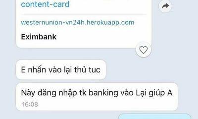 Tin nhắn của kẻ gian gửỉ đường link cho bà Trang.