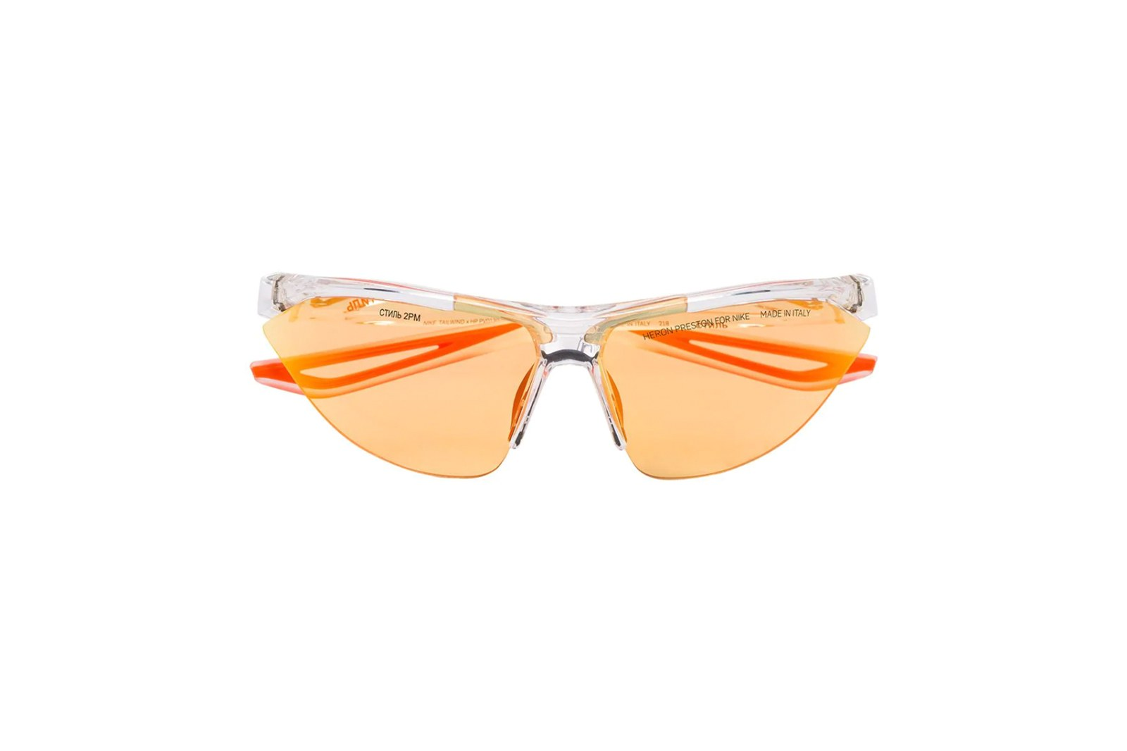 Kính Heron Preston x Nike transparent Tailwind sunglasses