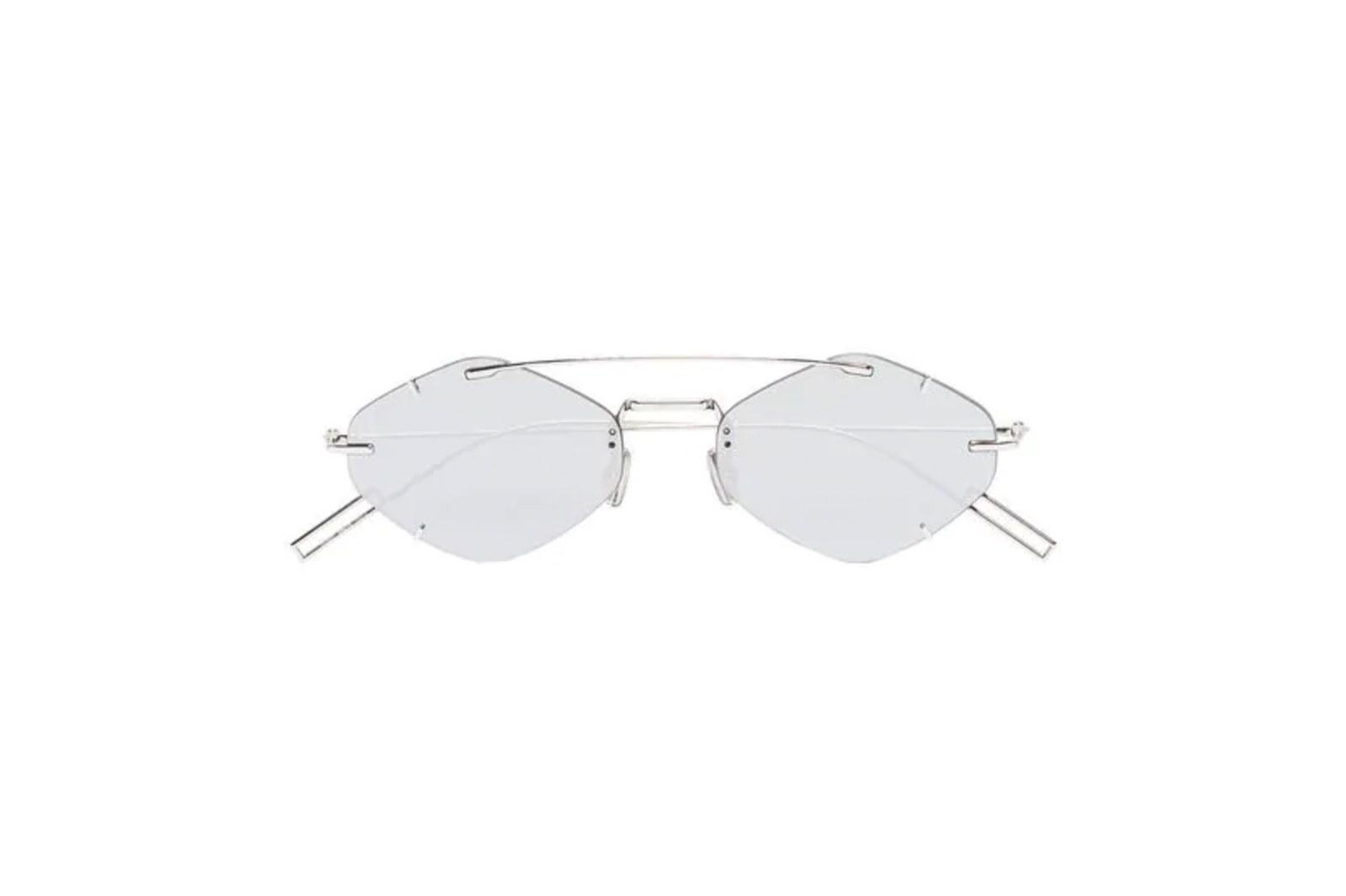 Kính Dior Eyewear silver tone Inclusion geometric sunglasses
