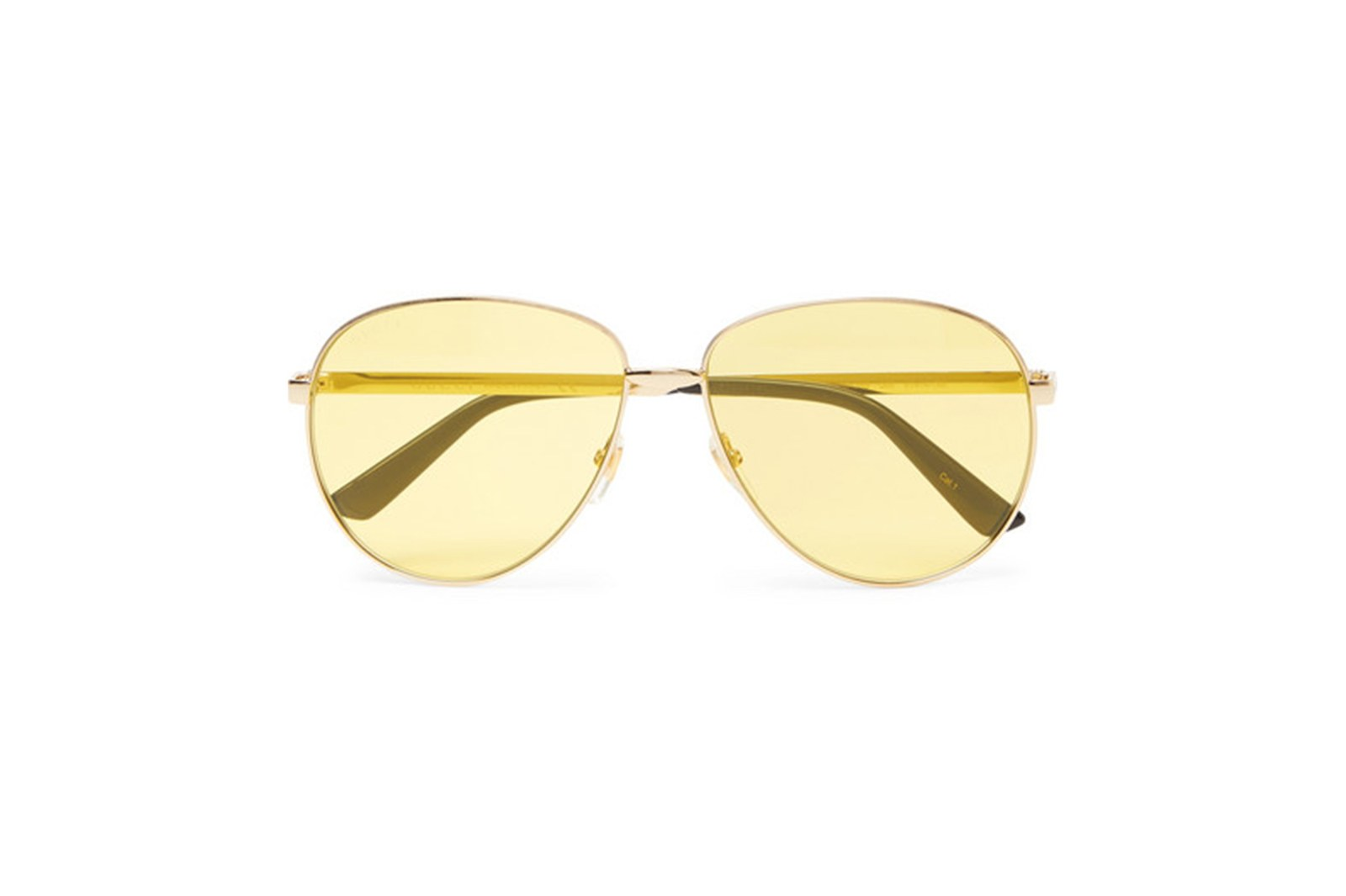 Kính Gucci aviator-style gold-tone sunglasses