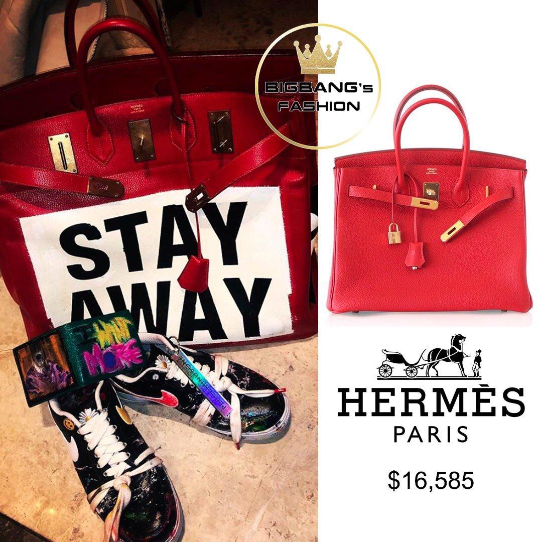 G-Dragon thich deo tui hang hieu, co chiec Hermes hon 16.500 USD hinh anh 3 ELZQqYHUYAYXRf4.jpg