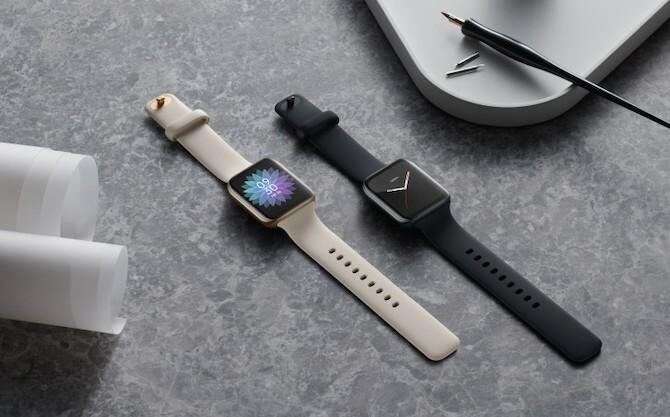 Smartwatch của Oppo có thiết kế giống với Apple Watch. Ảnh: GsmArena.