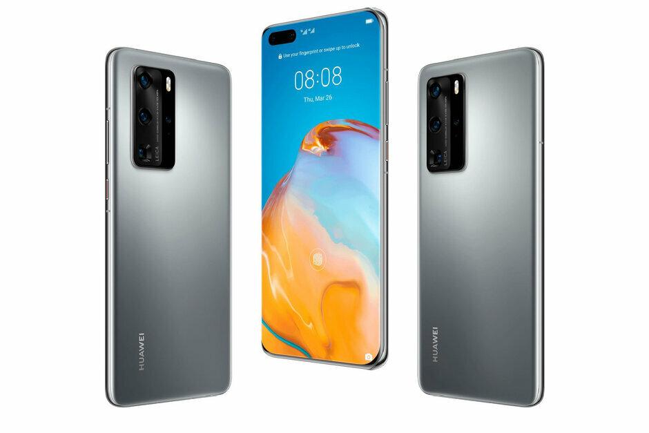 Thiết kế được cho là của Huawei P40 Pro với màn hình ôm cong 4 cạnh.