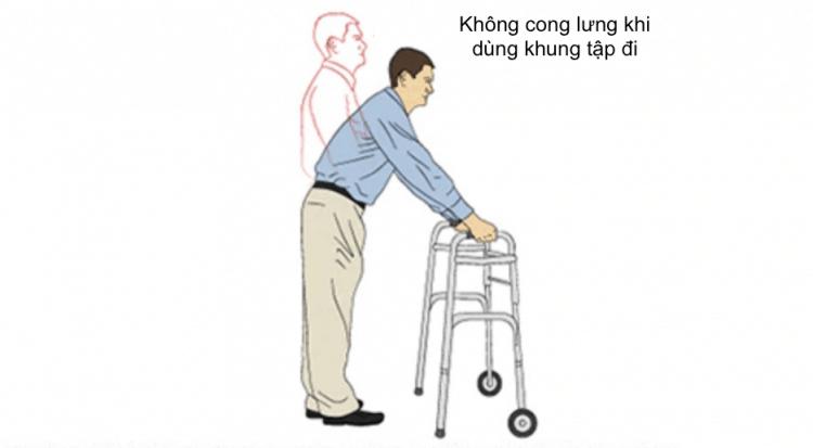 đứng thẳng khi dùng khung