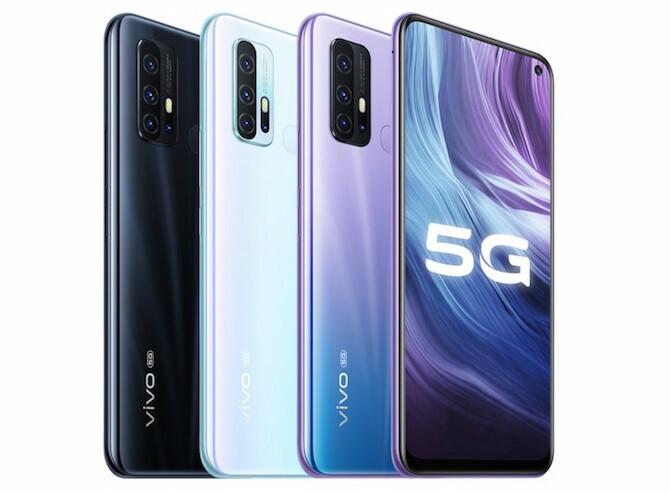 Vivo Z6 5G có ba màu.