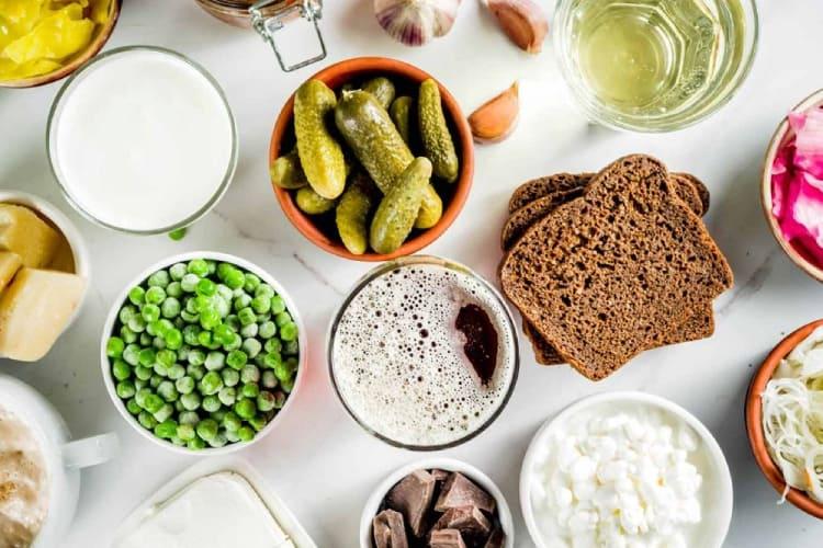 Các nguồn thực phẩm chứa cả prebiotic và probiotic