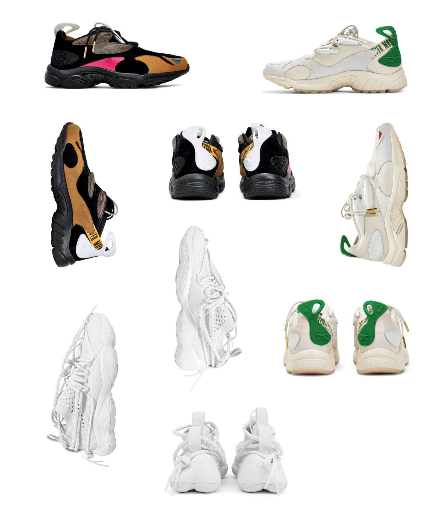 Giày thể thao collab REEBOK X PYER MOSS, DAYTONA EXPERIMENT 2 AND DMX FUSION EXPERIMENT 1