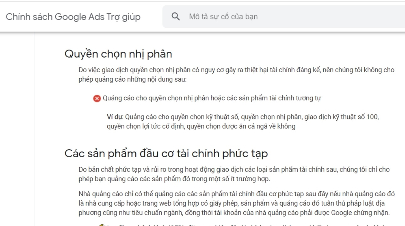 Google van quang ba cho app ca cuoc Binomo hoat dong o Viet Nam hinh anh 1 Screenshot_17.jpg